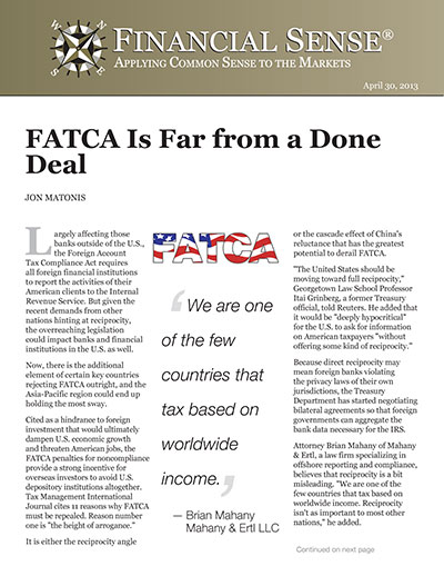 FATCA Is Far from a Done Deal