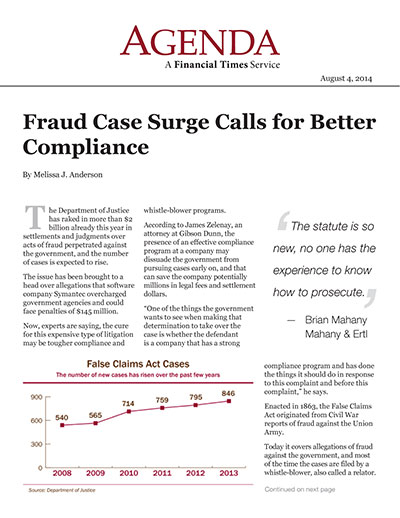 Fraud Case Surge Calls for Better Compliance