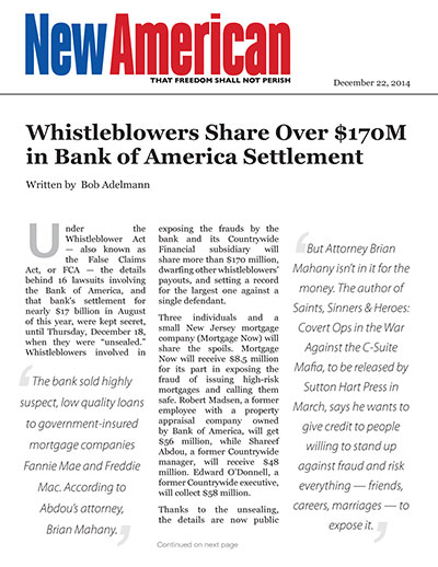 Whistleblowers Share Over $170M in Bank of America Settlement