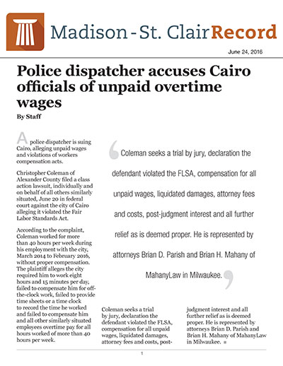 Police dispatcher accuses Cairo officials of unpaid overtime wages