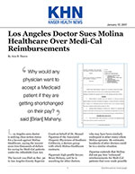 Los Angeles Doctor Sues Molina Healthcare Over Medi-Cal Reimbursements