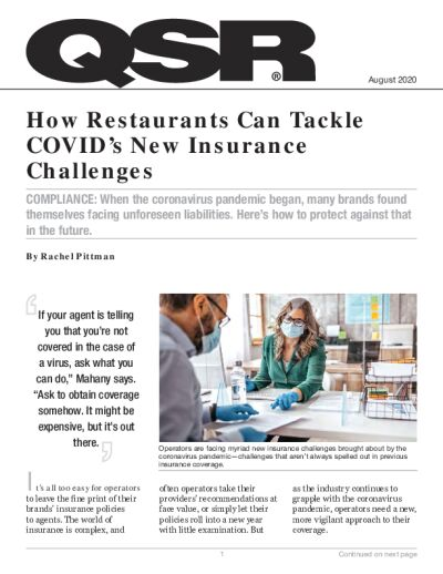 How Restaurants Can Tackle COVID's New Insurance Challenges