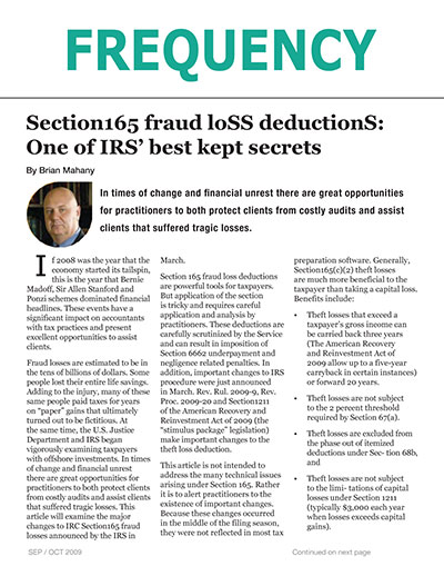 Section165 Fraud Loss Deductions