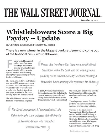 Whistleblowers Score a Big Payday -- Update