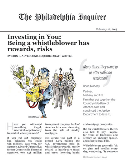 Investing in You: Being a whistleblower has rewards, risks