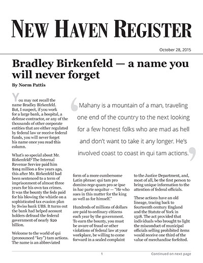 Bradley Birkenfeld – a name you will never forget