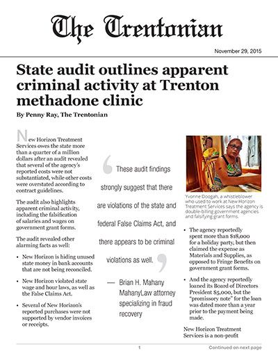 State audit outlines apparent criminal activity at Trenton methadone clinic