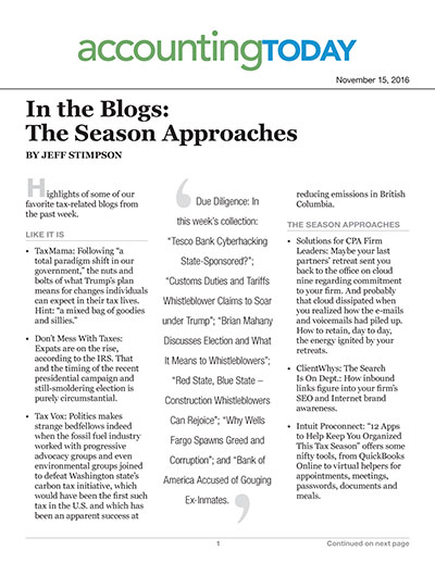 In the Blogs: The Season Approaches