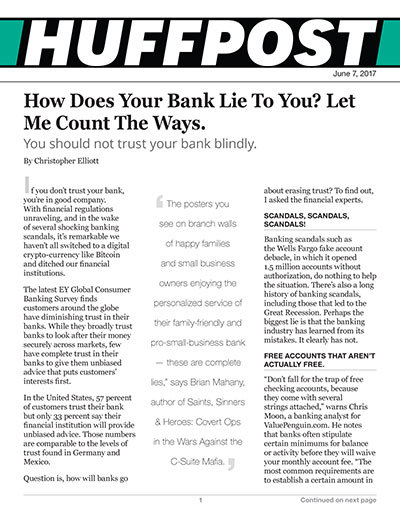 How Does Your Bank Lie To You? Let Me Count The Ways.