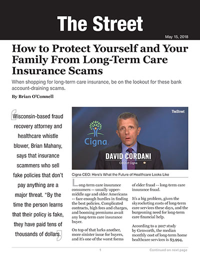 How to Protect Yourself and Your Family From Long-Term Care Insurance Scams