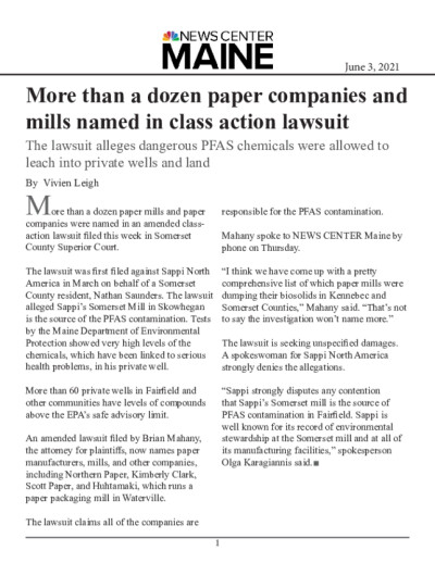 More than a dozen paper companies and mills named in class action lawsuit