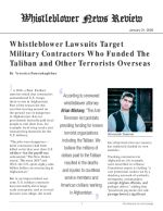 Whistleblower Lawsuits Target Military Contractors Who Funded The Taliban and Other Terrorists Overseas