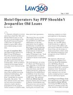 Hotel Operators Say PPP Shouldn't Jeopardize Old Loans