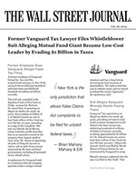 Former Employee Sues Vanguard, Alleges False Tax Filing