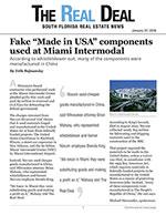 "Fake ""Made in USA"" components used at Miami Intermodal"