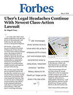 Uber's Legal Headaches Continue With Newest Class-Action Lawsuit