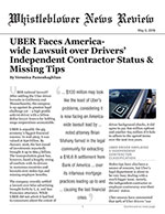 UBER Faces America-wide Lawsuit over Drivers' Independent Contractor Status & Missing Tips