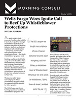 Wells Fargo Woes Ignite Call to Beef Up Whistleblower Protections