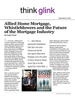 Allied Home Mortgage, Whistleblowers and the Future of the Mortgage Industry