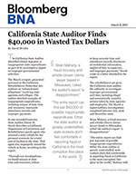 California State Auditor Finds $40,000 in Wasted Tax Dollars