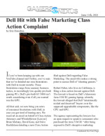 Dell Hit with False Marketing Class Action Complaint