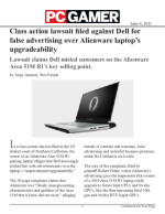 Class action lawsuit filed against Dell for false advertising over Alienware laptop's upgradeability