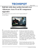 Dell hit with class-action lawsuit over Alienware Area 51-m R1 component upgrades