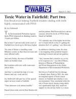 Toxic Water in Fairfield