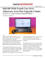 Dell Hit With Fraud Case Over Alienware Area-51m Upgrade Claims